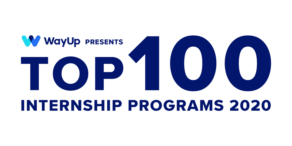 WayUp presents Top 100 Internship Programs 2020.